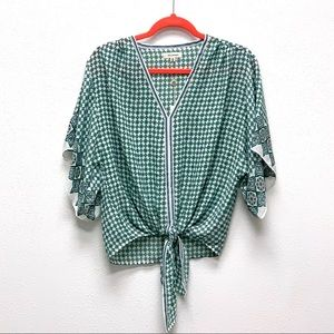 NWT! Max Studio Summer Top Front Waitline Tie💚